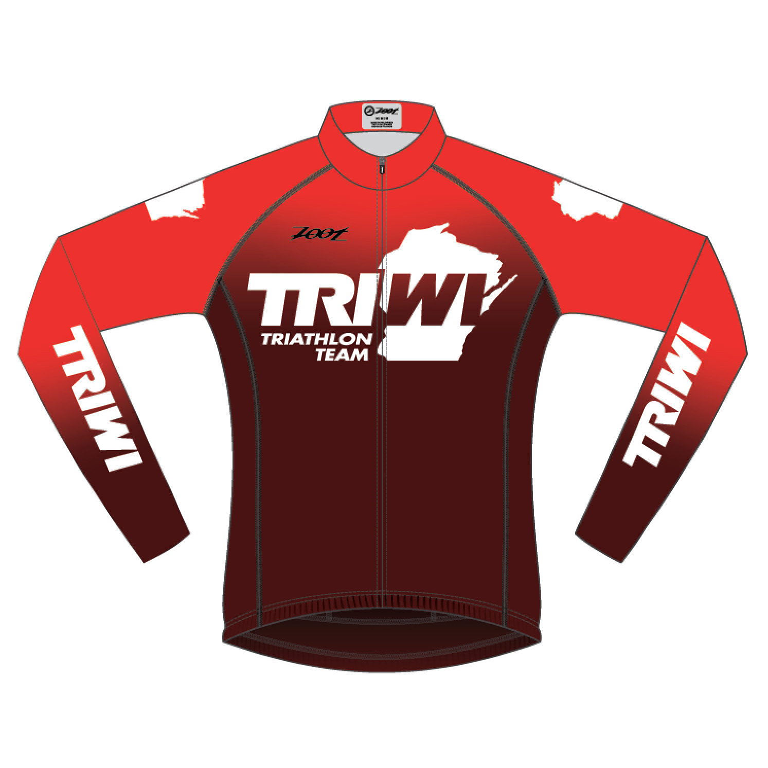 06f9feec6ba 2019 ZOOT - Men's Cycling Long Sleeve Thermo Jersey - Red